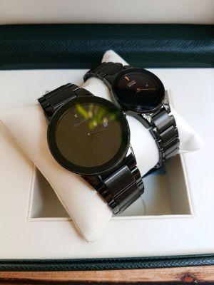 Đồng hồ cặp nam nữ Citizen Axiom EcoDrive đen ngầu