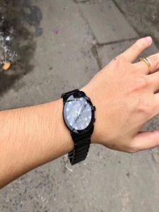 Bulova Mens 98D123 Chronograph Black Dial Diamond Mens Watch-Lavyla